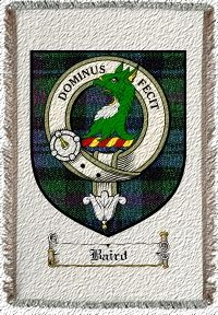 Baird Clan Badge Throw Blanket