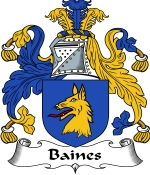 Baines Family Crest / Baines Coat of Arms JPG Download