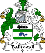 Ballingall Family Crest / Ballingall Coat of Arms JPG Download