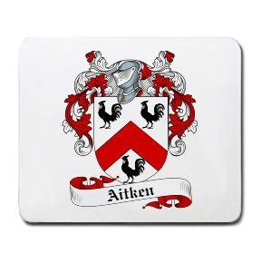 Aitken Coat of Arms Mouse Pad