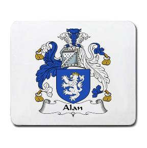 Alan Coat of Arms Mouse Pad