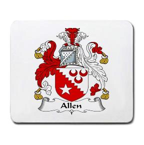 Allen Coat of Arms Mouse Pad