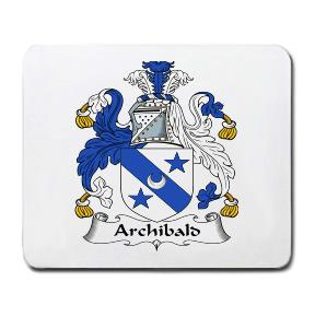 Archibald Coat of Arms Mouse Pad