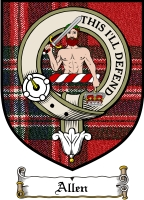 Allen Clan Badge / Tartan FREE preview