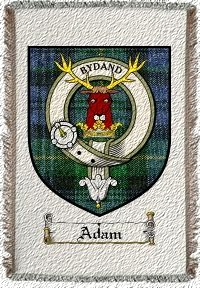 Adam Clan Badge Throw Blanket