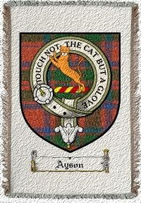 Ayson Clan Badge Throw Blanket