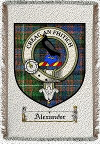 Alexander Clan Macdonnell Clan Badge Throw Blanket