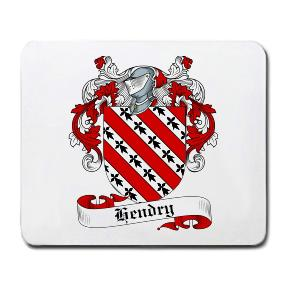 Hendry Coat of Arms Mouse Pad