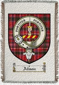 Alison Clan Badge Throw Blanket
