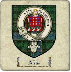 Airlie Clan Badge Marble Tile