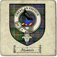 Alastair Clan Macdonnell Clan Badge Marble Tile