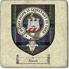 Alcock Clan Badge Marble Tile
