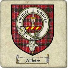 Allister Clan Badge Marble Tile