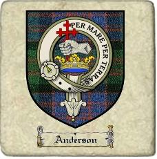 Anderson Clan Macdonald Clan Badge Marble Tile