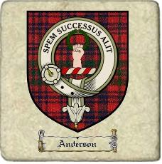 Anderson Clan Ross Clan Badge Marble Tile