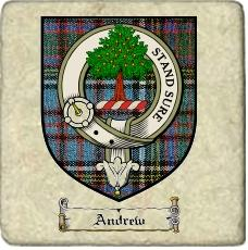 Andrew Clan Badge Marble Tile