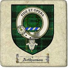Arthurson Clan Badge Marble Tile