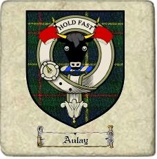 Aulay Clan Badge Marble Tile