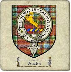 Austin Clan Badge Marble Tile