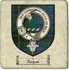 Angus Clan Badge Marble Tile