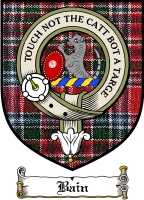 Bain Clan Macbain Clan Badge / Tartan FREE preview