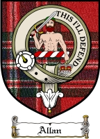 Allan Clan Mackay Clan Badge / Tartan FREE preview