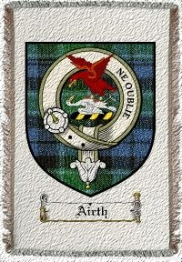 Airth Clan Badge Throw Blanket