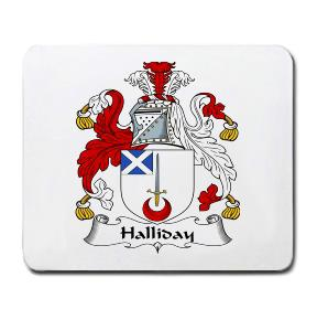 Halliday Coat of Arms Mouse Pad