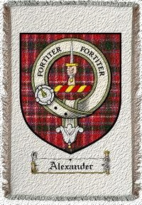 Alexander Clan Badge Throw Blanket