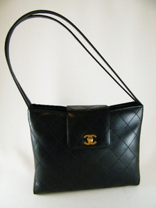 $1600 Authentic Chanel Black Leather Handbag (SOLD!)