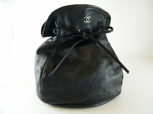 Gorgeous! Authentic Chanel Black Leather Evening Purse Bag (CLEARANCE) (SOLD!)