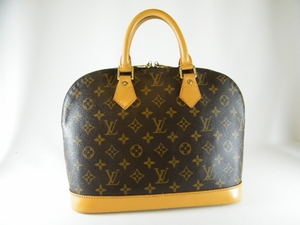 Authentic Louis Vuitton Alma Leather Handbag Bag Tote Purse  with Water and Stain Resistant Protective Coat