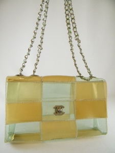 Cute! Auth Chanel Transparent Clear Vinyl Bag (Clearance)(SOLD!)