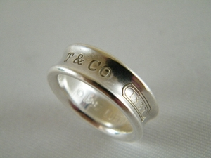 AUTHENTIC TIFFANY & CO STERLING SILVER HEARTS RING SZ 4 / 4.5 (Clearance)