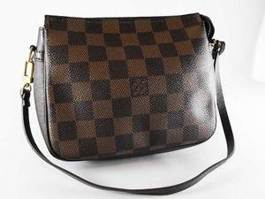 Authentic Louis Vuitton Damier Accessories Leather Pouch Pouchette Handbag Bag Purse Clutch  (SOLD!)