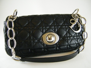 $1600 NEW! Christian Dior Black Lambskin Cannage Bag (SOLD!)