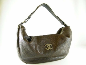 Authentic Large Chanel Brown Caviar Leather Hobo Bag Handbag Purse (SOLD!)