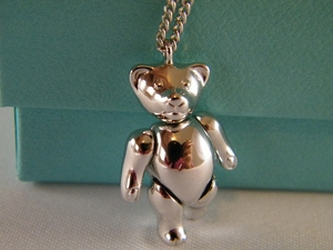 Authentic Christian Dior Teddy Bear Silver necklace (CLEARANCE) (Sold!)