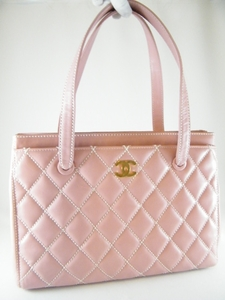 Authentic Chanel Pink Executive Cerf Large Leather Tote Handbag Bag (SOLD!)