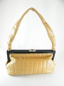 Vintage! Auth Chanel Tan Square Cube Bag (CLEARANCE)