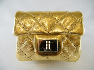 NEW! Authentic Gold Chanel Reissue Ankle / Wristlet Bag (SOLD!)