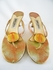 Authentic Jimmy Choo Orange Crackled Leather Heels Sandals Shoes (Clearance)