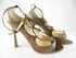 Authentic Jimmy Choo Brown Snake Skin Strappy Leather Heels Shoes (Clearance)