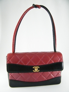 $2500 Rare! Authentic Chanel Limited Edition Black N Red Quilted Bag (SOLD!)