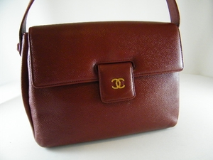 $1600 Authentic Chanel Red Caviar Leather Bag (Clearance)