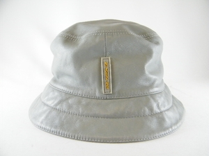 Authentic Louis Vuitton Cup Gray Leather Hat