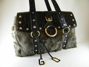 Gorgeous! JUMBO $3500 Authentic Dolce & Gabbana Astrakan Fur Bag (Clearance) (SOLD!)