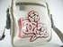 Authentic Chanel White and Grey Sports Waterproof Canvas Music Ipod Messenger Bag Handbag Purse (SOLD!)