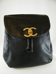 Authentic JUMBO CHANEL Large Black Caviar Leather Backpack Bag (CLEARANCE) (SOLD!)