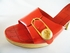 Authentic Chanel Red Patent Leather Wooden Heels Sandals Shoes (SOLD!)